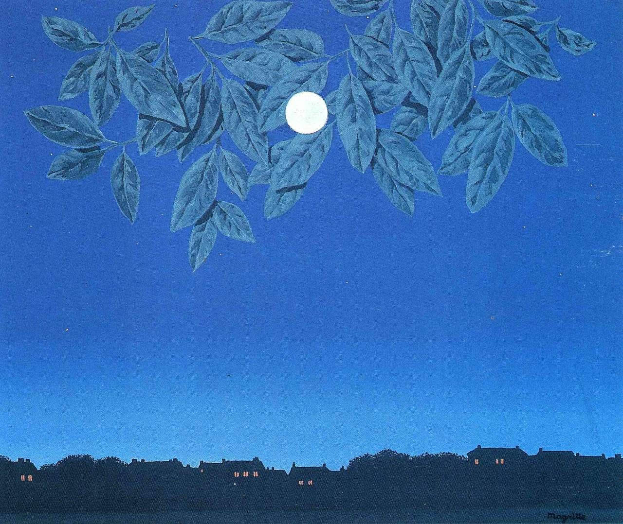 The blank page, 1967 Rene Magritte