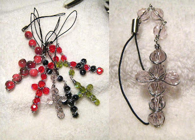 Beaded wire wrapped crosses