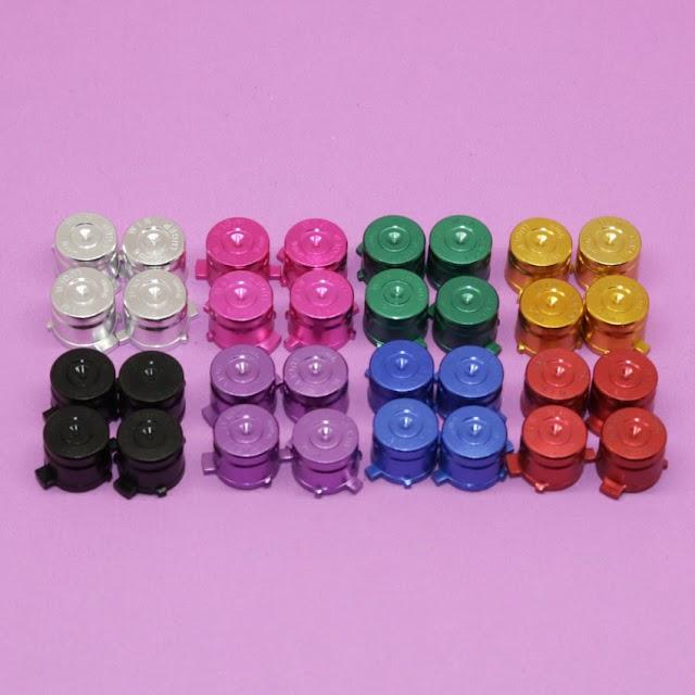 Kopen Goedkoop YuXi 1 Set = 4 Stks Aluminium Metal Bullet Knoppen Thumbstick Caps Vervanging Voor Sony Playstation 3 PS3 PS4 Gamepad Controller Prijs