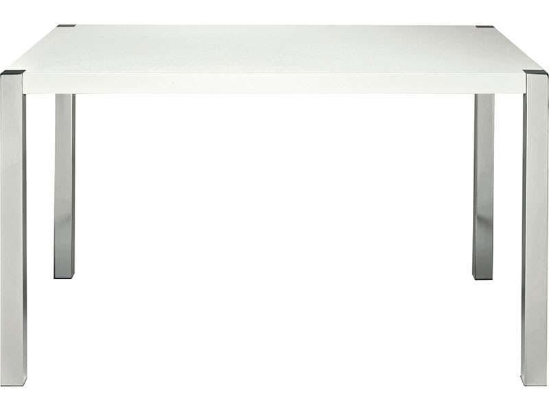 Table ronde laqu e blanche conforama acheter en ligne for Table ronde laquee blanche