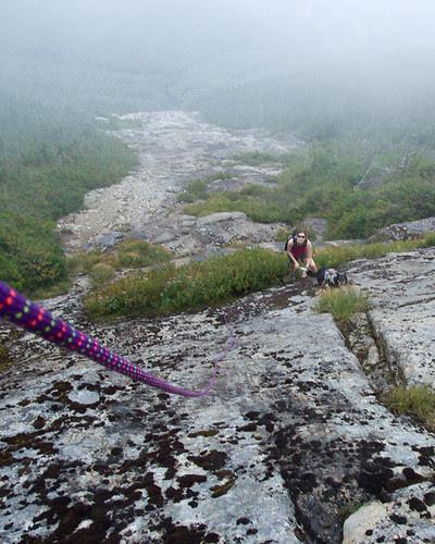 Final ascent before bushwhack
