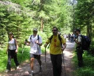 Cortina group hiking