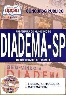 apostila Prefeitura de Diadema AGENTE SERVIÇOS COZINHA I