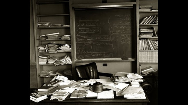 This is what Einstein's office looked like on the day he died