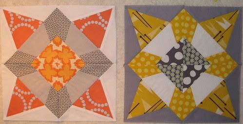 Quilting Divas mini-Sampler bee blocks by Poppyprint