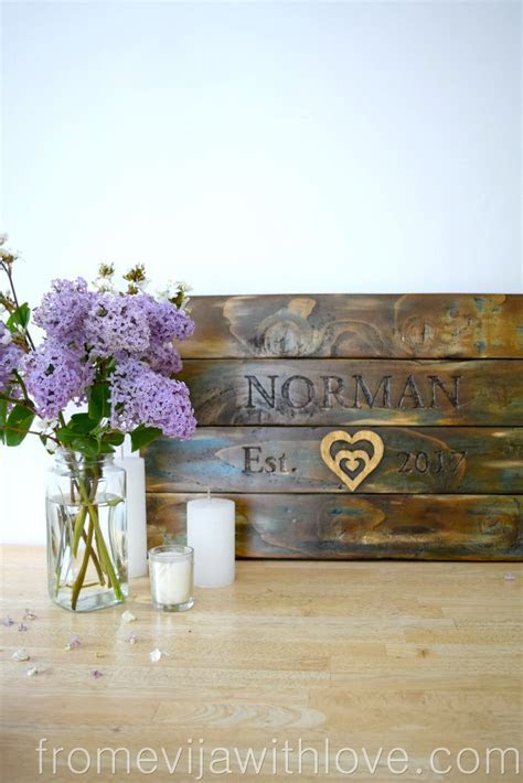 DIY Wedding Gift made from Wooden Pallets   From Evija
