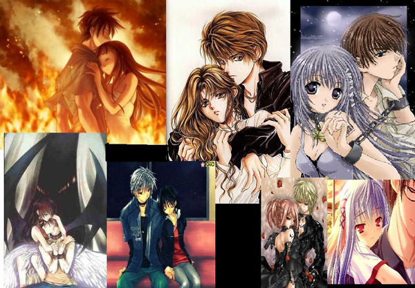 cute anime couples wallpaper. Anime couples - wallpaper by