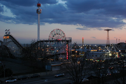 Sunset Over Coney Island, April 2006