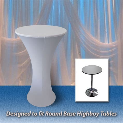 Highboy Round Base Spandex Fitted Table Covers   Premier