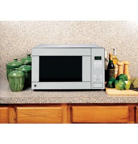 Ge 22 In Countertop 1 1 Cu Ft Stainless Steel Microwave