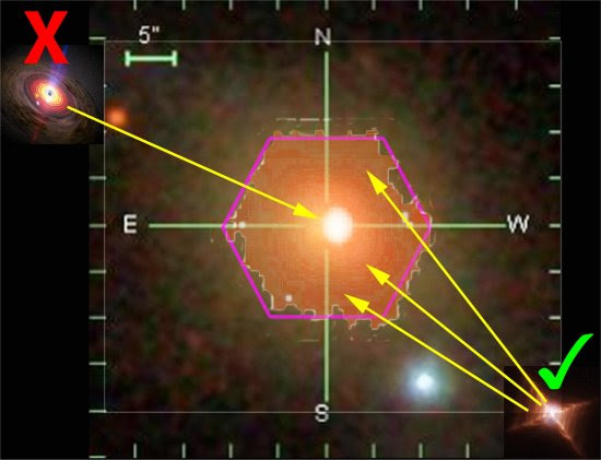 Luz desconhecida de galáxias não é produzida por buracos negros