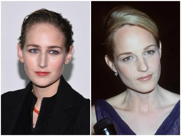 LeeLee Sobieski e Helen Hunt – A fotografia de Helen Hunt acima foi feita em 1998 e fica clara a semelhança de traços entre a atriz e LeeLee  (Foto: Getty Images)