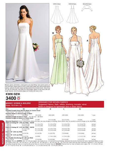 K3400 Misses' Bridal Gown & Bolero   Wedding Dress