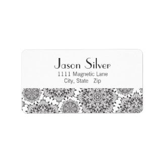 Silver Flame Address Labels label