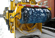 Take that, snow! One of the four snow-throwers that the Metropolitan Transportation Authority is deploying to keep tracks clear. It can throw snow up to 200 feet and remove 3,000 tons an hour.