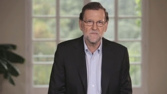 El president del govern en funcions, Mariano Rajoy, en el vídeo que el PP ha difós aquest dilluns