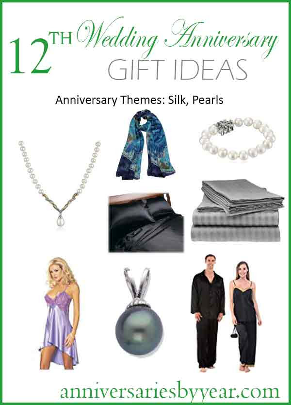 12th Year Anniversary 12th Anniversary Gifts