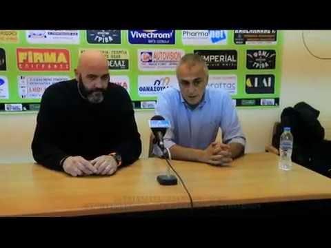 Δείτε τις συνεντεύξεις των προπονητών μετά το τέλος του αγώνα ΑΟ Αγρινίου-Στρατώνι για την Β΄ Εθνική ανδρών