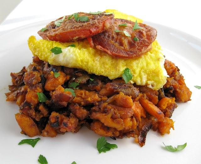 sweet potato hash w/ adobo