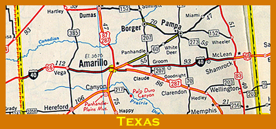 Map Of Texas Showing Amarillo Business Ideas 2013