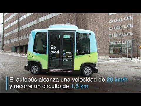 Suecia prueba un autobús sin conductor