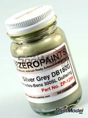 Zero Paints: Pintura - Gris metalizado para Mercedes-Benz 300SL - DB180G - 60ml - para kit de Tamiya TAM24338