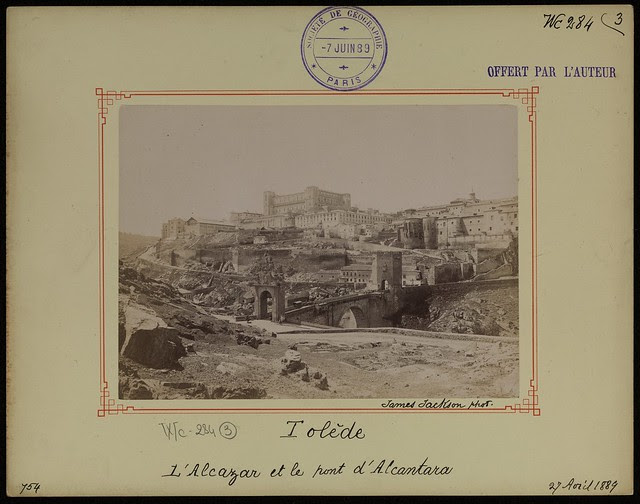 Puente de Alcántara y Alcázar el 27 de abril de 1889. Fotografía de James Jackson. © Société de Géographie / Bibliothèque Nationale de France
