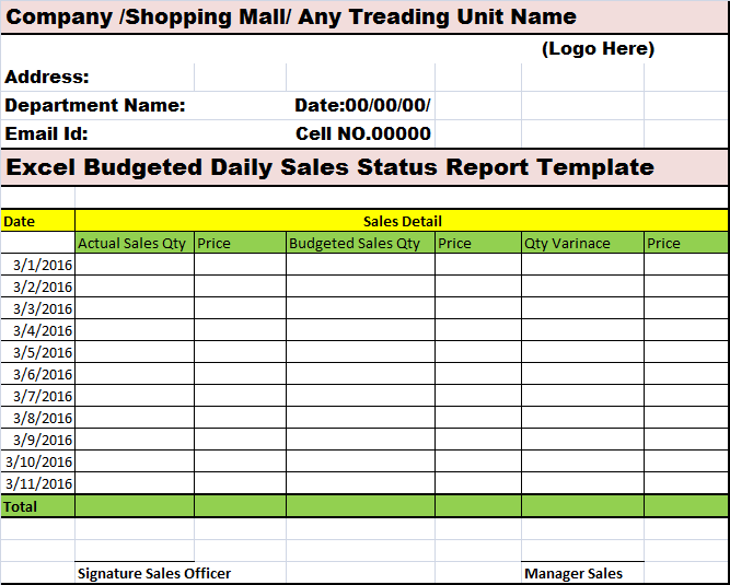 Daily Collection Report Format In Excel - Calendar June