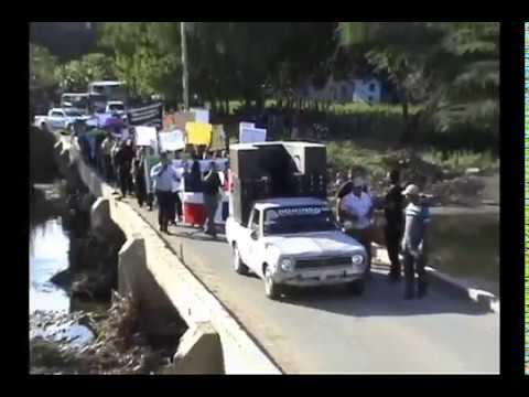 Siguen reclamos de puente, agua y luz en Amina