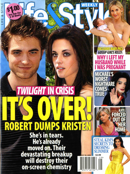 update split betweem kristen stewart and robert pattinson