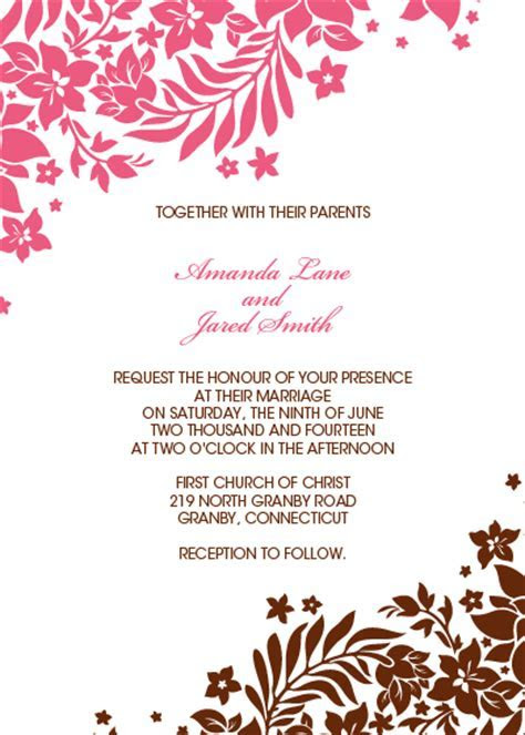 Foliage Borders Invitation, RSVP and Thank you Cards