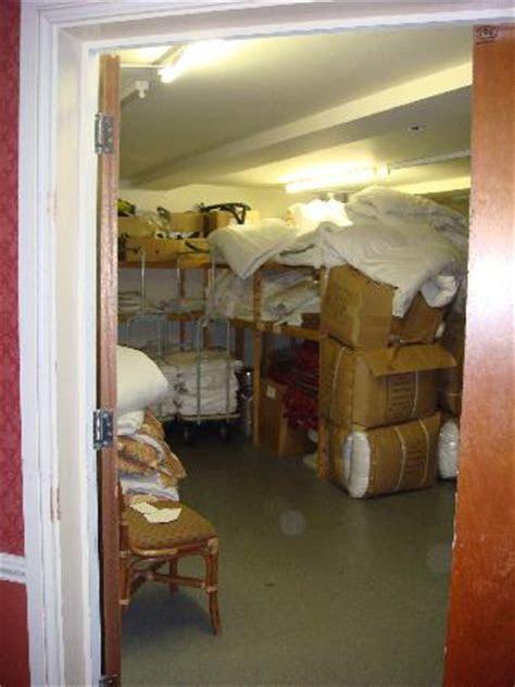 """Poor Housekeeping in Linen Room and Fire Door """"wedged open"""