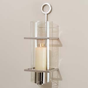 Polished Nickel Wall Sconce - contemporary - candles and candle ...