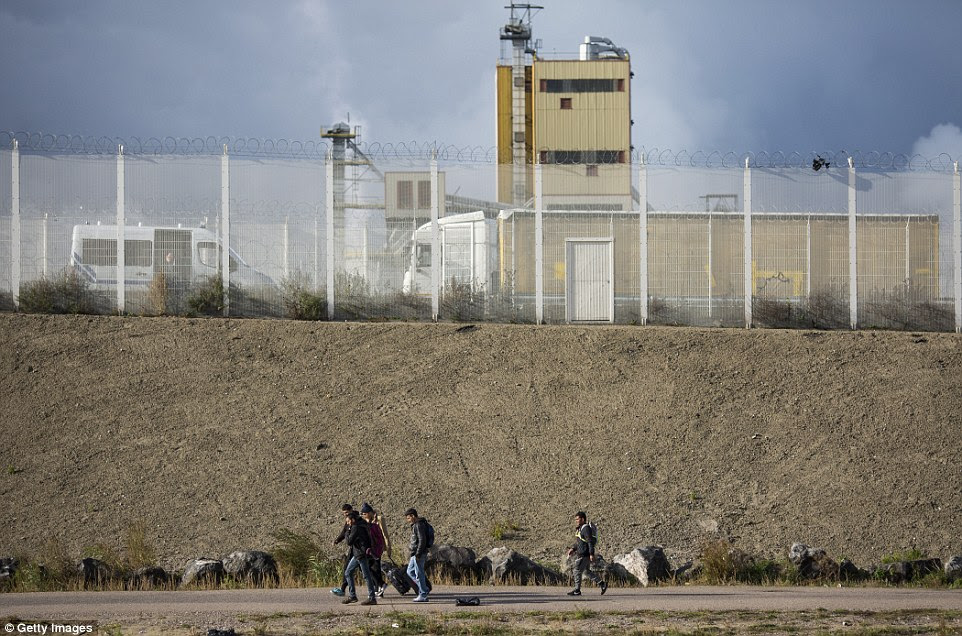 The force has said it is 'monitoring events' in northern France as notices started to go up in the camp alerting migrants to the imminent clearance
