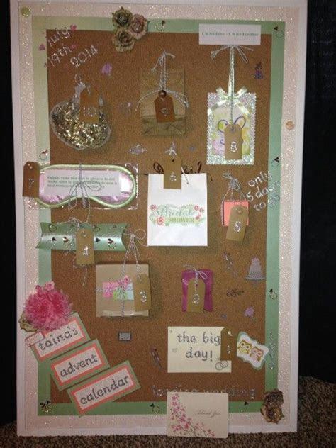 Advent calendar I made my friend for her bridal shower