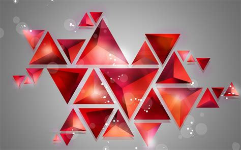 triangle cube   abstract background hd wallpapers