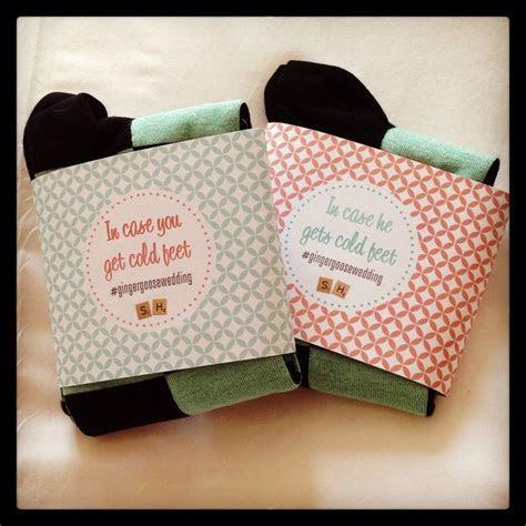 labels for the groomsmen gifts (socks) #gingergoosewedding