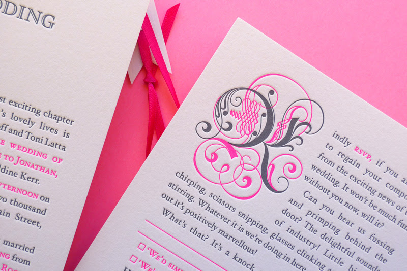 Neon Pink Storybook Wedding Invitations The Hungry Workshop4 550x367 Best of