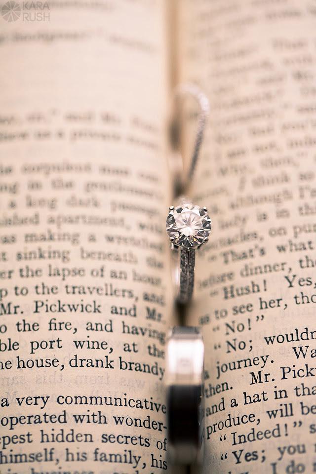 wedding ring shot open book-1