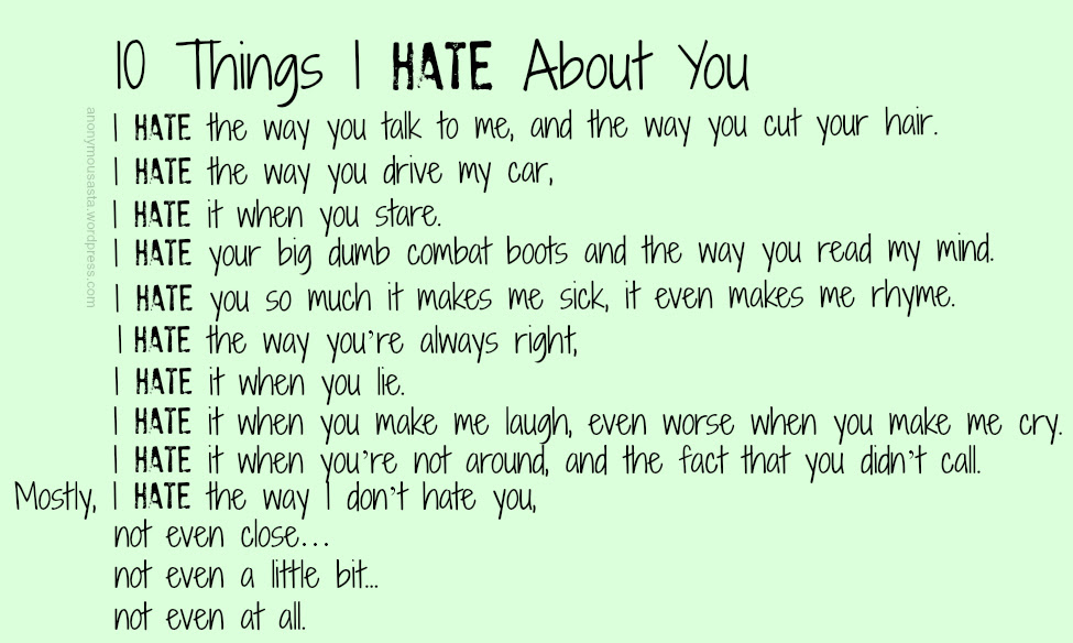 Funny Love Hate Poems Funny Love Quotes
