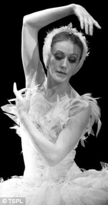 In her prime: Scottish Ballet principal ballerina Elaine McDonald performs the Dying Swan from Swan Lake in February 1983