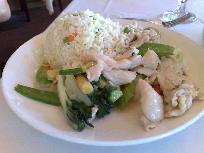 Chicken with Vegetables & Fried Rice