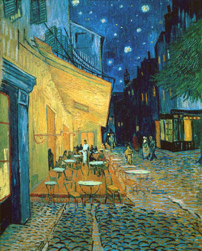 Vincent Van Gogh - Cafe Terraza, Plaza de Forum, Arles