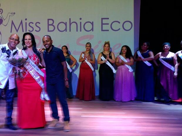 Vencedora do Miss Plus Size em Salvador (Foto: Divulgação)