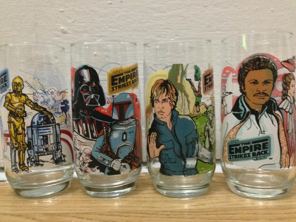 1980 Burger King Empire Strikes Back glasses (Full collection)