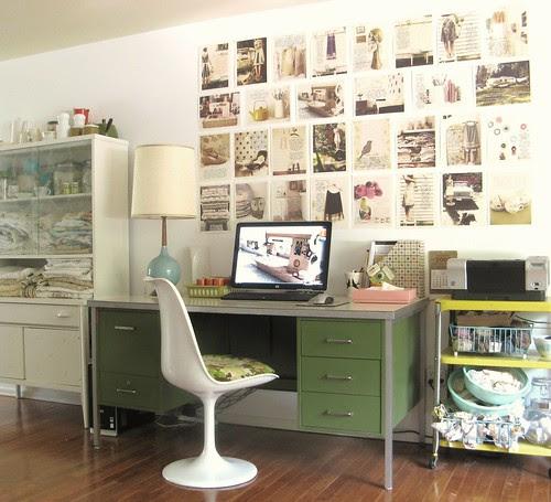 one side of my studio...