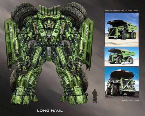 Concept artwork of the Constructicon known as Long Haul, who is rumored to make an appearance in TRANSFORMERS: REVENGE OF THE FALLEN.