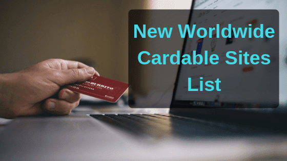 10k+ Cardable sites list