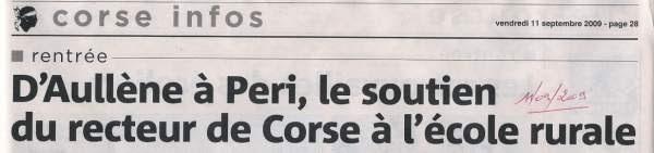 Rentrée Scolaire 2009