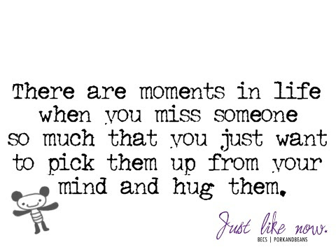 There Are Moments In Life When You Miss Someone So Much That You